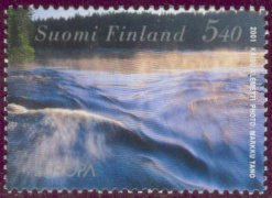 Water on most beautiful stamp