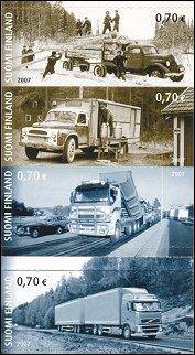 Truck transport on Filand 2007 stamps