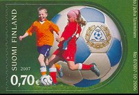 Football on 2007 Finland stamp