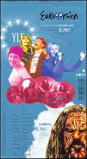 Eurovision Song Contest stamp 2007 Finland