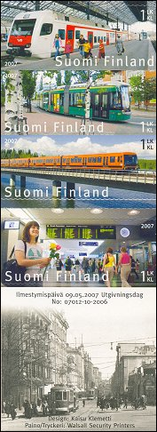 Public transport stamps 2007 Finland