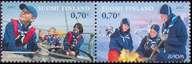Scouting and Moomins stamps 2007 Finland