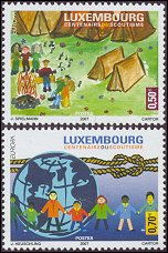 Scouting on stamps 2007 Luxembourg