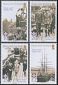 Falkland Islands Centenary of Scouting 2007 stamps