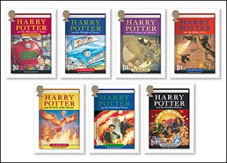Harry Potter on UK 2007 postage stamps