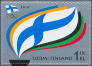 Finnish Olympic Committee Centenary stamps 2007