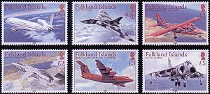 Aircraft Definitive 2008 stamps Falkland Islands