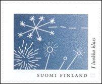 Fireworks on postage stamp