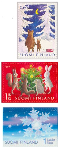Finnish Christmas stamps