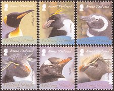 Breeding Penguins on postage stamps