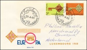 Europazegels fdc 1968
