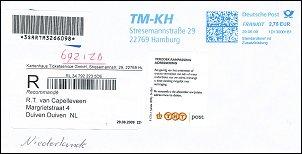 Aangetekende brief uit Duitsland