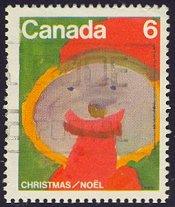 Kerstzegel uit Canada 1975