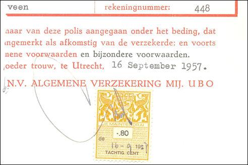 Voorbeeld fiscaalzegel Nederland