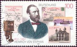 Heinrich von Stephan op Duitse postzegel