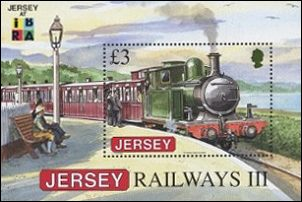 Locomotief op Jersey
