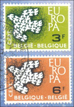 Belgische Europazegels 1961