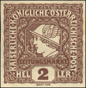 Oostenrijkse krantenzegel