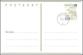 Briefkaart uit Noorwegen