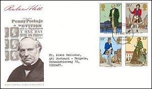 Rowland met Engelse postzegels uit 1979