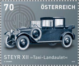 Oostenrijk auto op postzegel