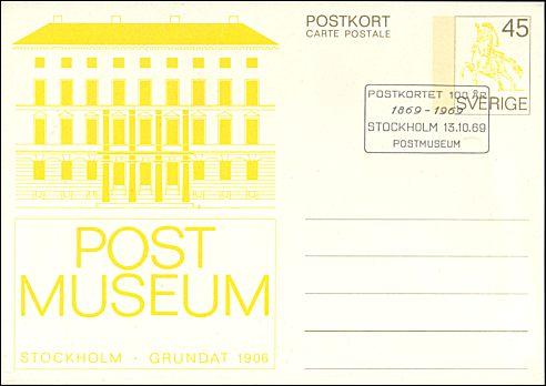 Briefkaart Zweden Postmuseum