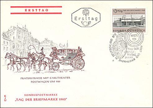 Oostenrijk, Dag van de Postzegel, 1963