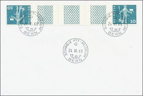Zwitserland, keerdruk postbode, 1960