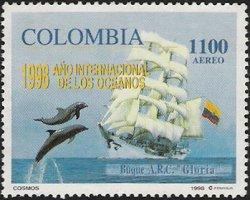 Postzegel Colombia