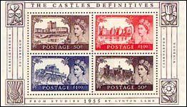 Kastelen op Engelse postzegels