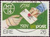 Brief op postzegel