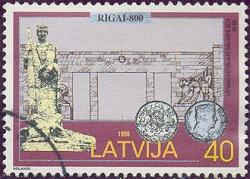 Postzegel Letland