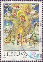 Postzegel Litouwen