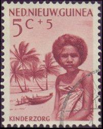 Postzegel Nederlands Nieuw-Guinea