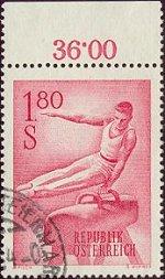 Atletiek: paard op postzegel