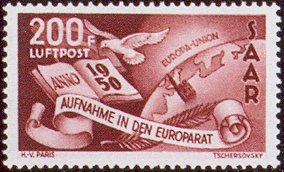 Postzegel Saar