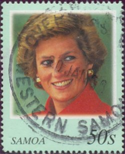Postzegel Samoa met Diana