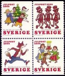 Zweden kerstzegels 2000