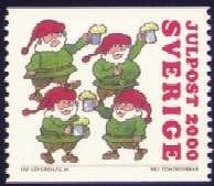 Rolzegel kerst Zweden 2000
