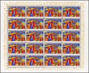 Kerstmis en Nieuwjaar postzegel België 2001