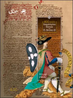 Alfons II van Portugal op postzegel