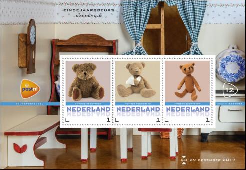 Beurspostzegels met teddybeer voor Barneveld
