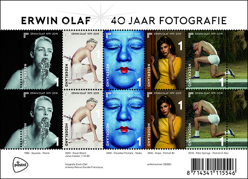 Erwin Olaf op postzegels