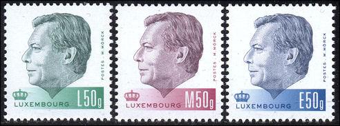 Nieuwe postzegels met Hendrik van Luxemburg