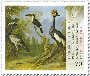 Jean-Baptiste Oudry op Duitse postzegel