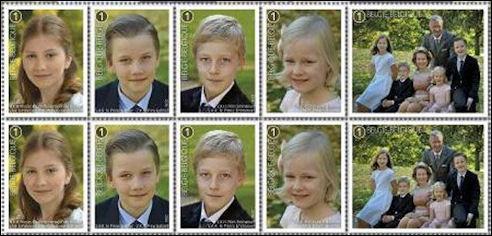 Belgische koningskinderen op postzegel