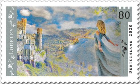 Loreley op Duitse postzegel