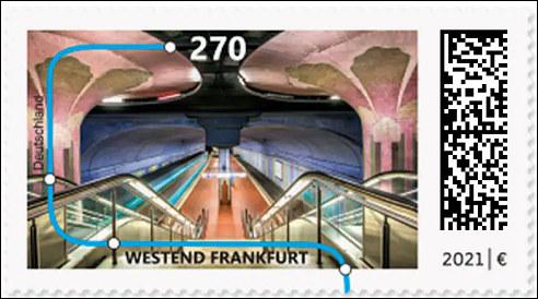Metrostation Westend in Frankfurt