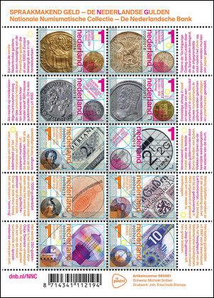 Gulden op postzegels PostNL