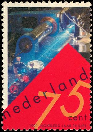 Onderzoek Philips op postzegel